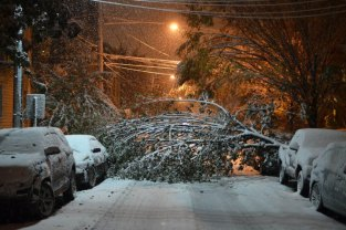 Snow Storm Hits Jersey City One Week After Hurricane Sandy
