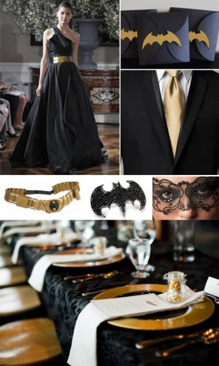 Classy Batman Wedding