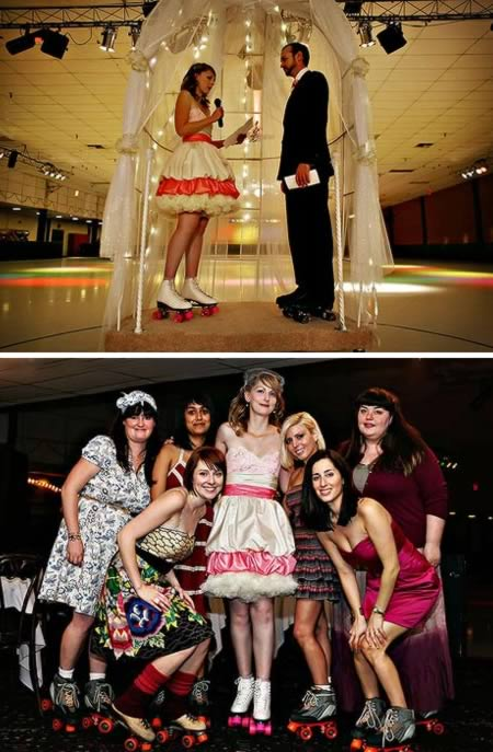 Roller Skating Wedding