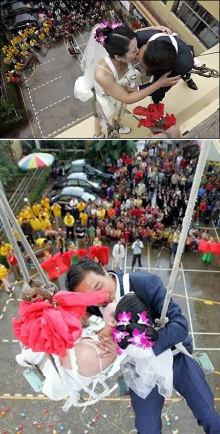 Rappelling Wedding