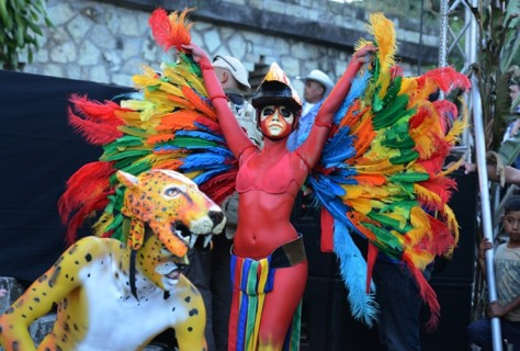 HONDURAS: Performers dressed as animals celebrate the end of the Mayan 'Long Count' Calendar in the Mayan ruins of Copan. 21 December 2012 coincides with the winter solstice. Some believed today would bring the apocalypse; others say it is merely the dawn of a new era