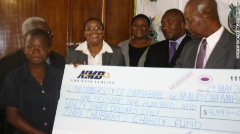 She has been granted a four-year scholarship from the Zimbabwe Revenue Authority (ZIMRA), valued at nearly $10,000