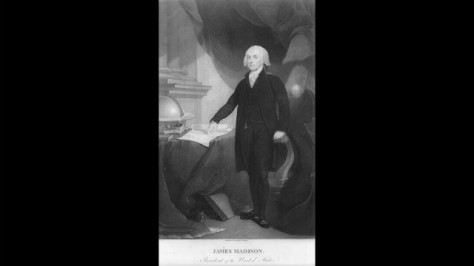 James Madison was sworn in for his first term on March 4, 1809