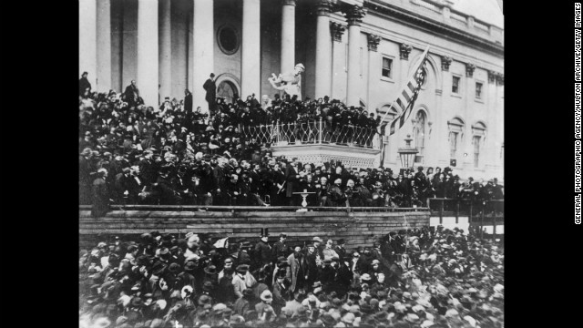 Abraham Lincoln take the oath of office for the second time on March 4, 1865