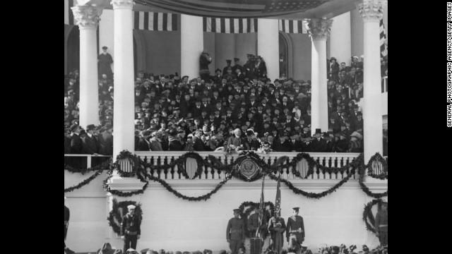 Warren G. Harding is sworn in on March 4, 1921
