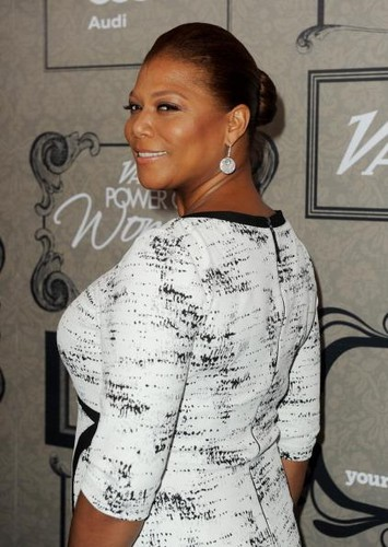 All hail the Queen. Latifah, that is. The cosmetics model, rapper, and actress flaunts her show-stopping figure. Credit: Getty Images