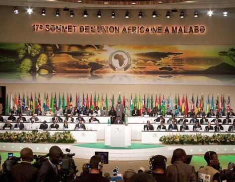 There are twelve multinational organisations in Africa, the largest being the African Union.