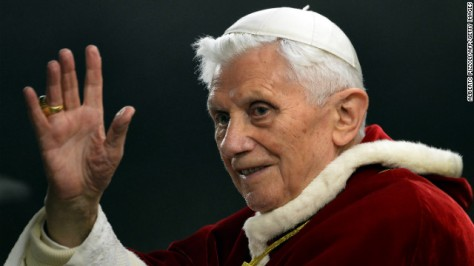 "Pope Benedict XVI waves in St. Peter's Square in the Vatican in December 2012. Benedict, 85, announced on Monday, February 11, that he will resign at the end of February ""because of advanced age."" The last pope to resign was Gregory XII in 1415."