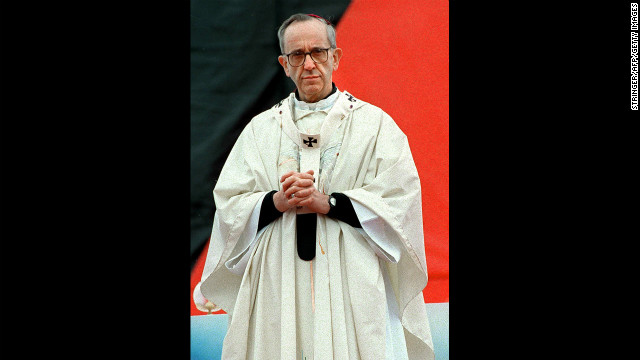 This undated photo shows Bergoglio, who was appointed a cardinal by Pope John Paul II