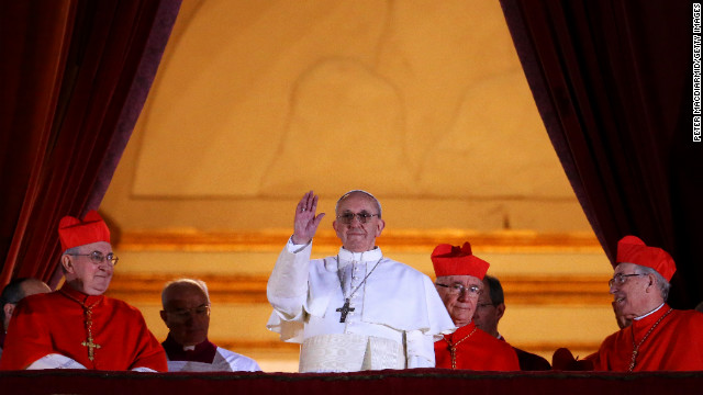 The new pope is Argentinian Cardinal Jorge Mario Bergoglio, the former archbishop of Buenos Aires, who takes the name Pope Francis. The announcement came on Wednesday, March 13, the first full day of the cardinals' conclave in the Sistine Chapel